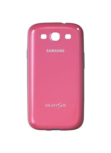 Samsung Samsung I9300 Galaxy S3 Protective Cover Orjinal Kılıf - K.Pembe (Outlet) Renkli
